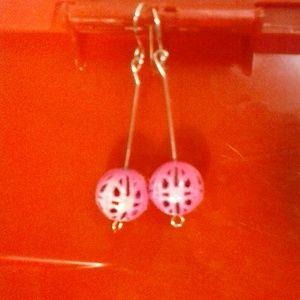 NWT Earrings Dangle Metal Ball